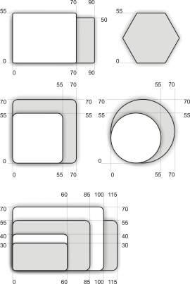 80.5.3. Sík hűtőmágnes (55x55mm nyolcszög)