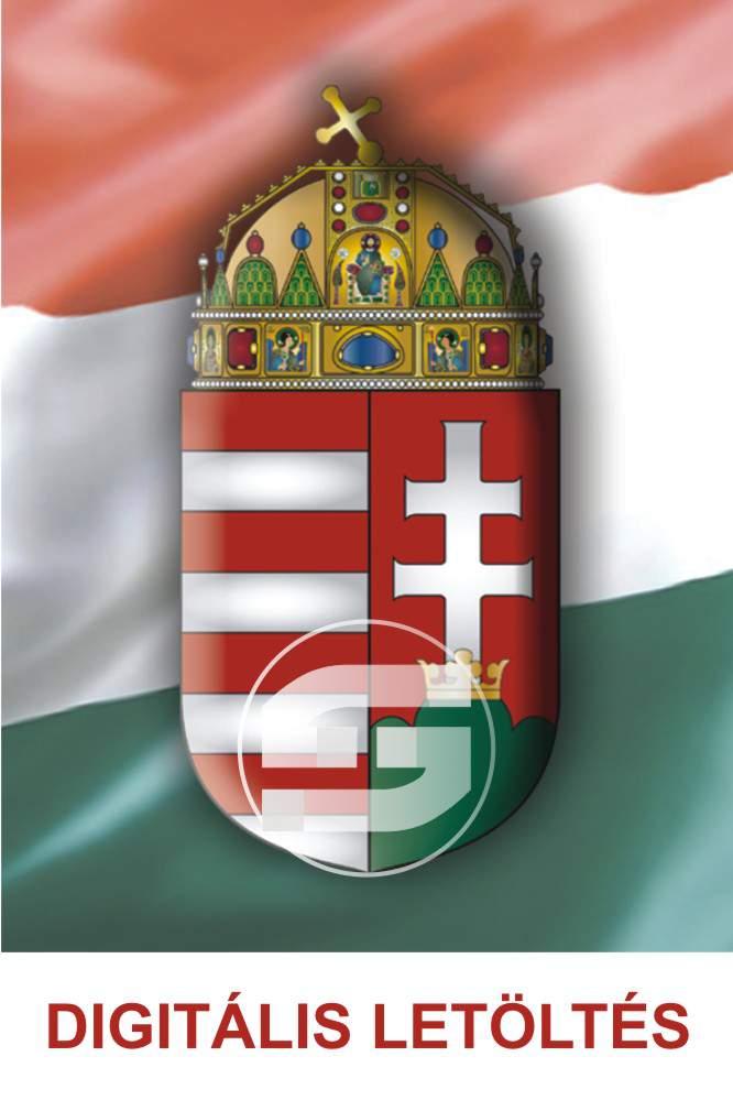 90. Magyar címeres hűtőmágnes